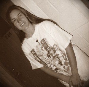Me, in 9th grade, rocking the looney tunes basketball T-shirt I stole from my younger brother.
